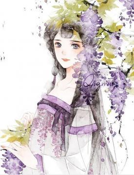 手绘图片唯美人物素描好看的 唯一想的就是能给你未来图片