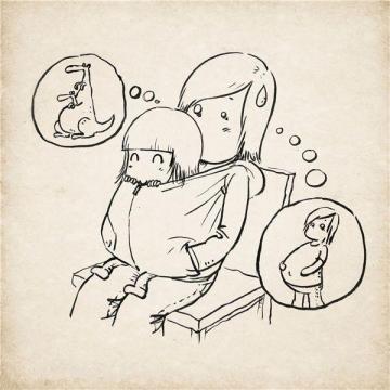 2016关于母亲节简笔画手绘图片素材