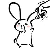 简笔画手绘兔子漫画图片头像 可爱兔子萌图头像_手机图片