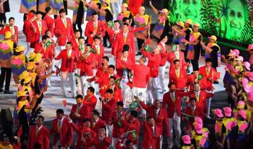 巴西奥运会中国代表团进场视频下载|2016里约